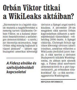 Nepszava, Orban Viktor titkai