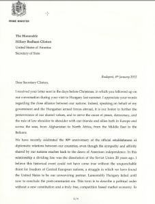 Orban letter to Clinton-1