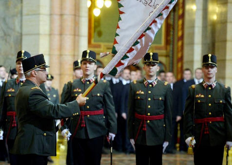 Parliamentary guards at ceremonial function