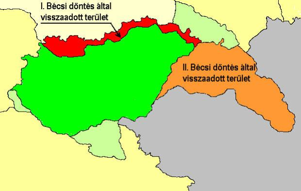 For these territories did the Hungarian government stood by Nazi Germany