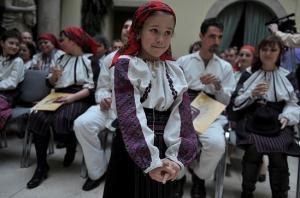 Csangos (ceangăi/ csángók), a Catholic group numbering 3,000  living in Moldavia  receive their Hungarian citizenship / HVG Photo Gergely Túry