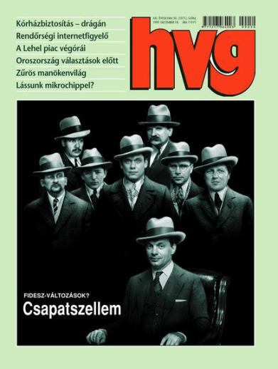 An old picture of the Fidesz family, 1999 / cover page of HVG