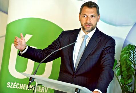 János Lázár at his press conference / Photo Károly Árvai