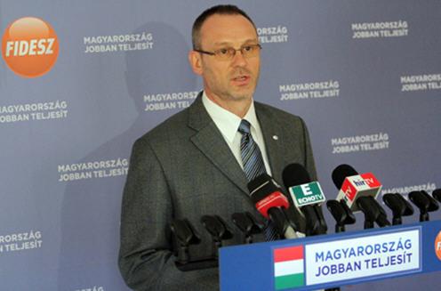 Róbert Zsigó one of Fidesz's  spokesmen