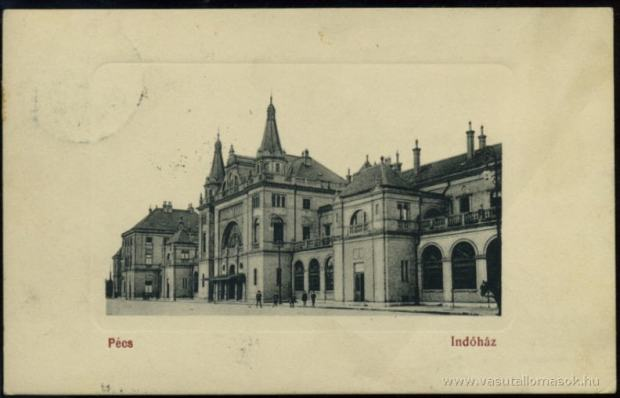 The Pécs Railroad Station