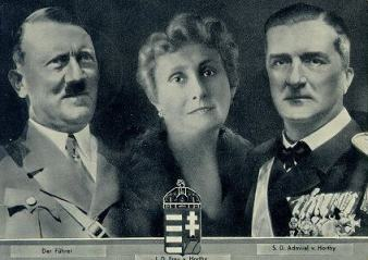 Berlin postcard 1938 issued to commemorate the meeting between Hitler and Horthy
