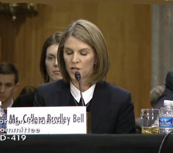 Colleen Bradley Bell at the Senate Confirmation Hearing on January 16, 2014