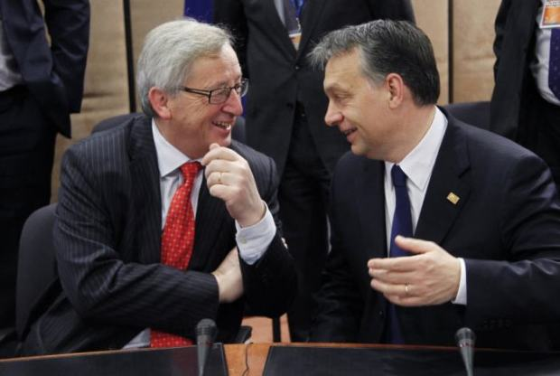 Jean-Claude Juncker and Viktor Orbán are great friends here