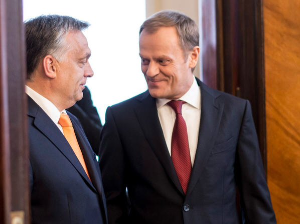Donald Tusk and Viktor Orbán / Photo Barna Burger