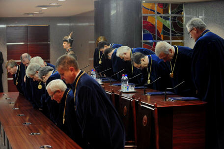 A rather telling picture of the current Hungarian Constitutional Court Source: Népszabadság