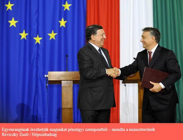 José Manuel Barroso and Viktor Orbán Source: Népszabadság / Photo Zsolt Reviczky