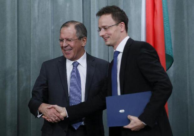 Sergei Lavrov and Péter Szijjártó, Moscow, November 19, 2010