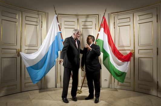 Horst Seehofer and Viktor Orbán in Munich Source: Die Welt / Photo Jörg Fokuh