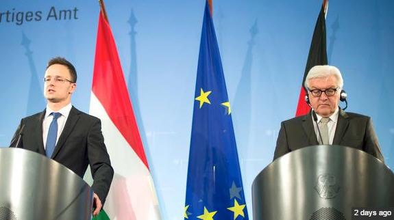 Péter Szijjártó and Frank-Walter Steinmeier in Berlin Source: Die Welt / Photo Bernd von Jutrczenka