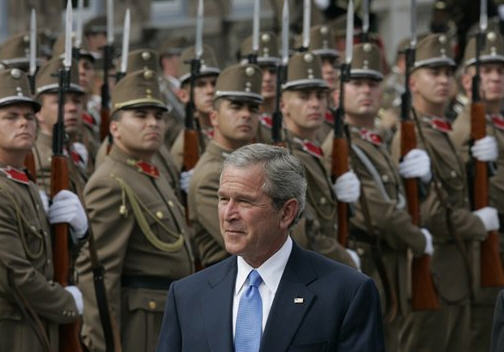 The good old days: George W. Bush in Budapest, June 22, 2006